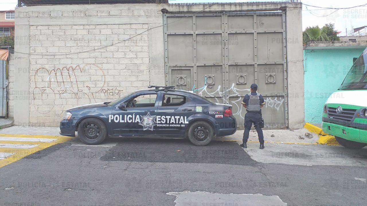 Secretaría de seguridad resguarda predio donde fue localizado vehículo reportado como robado
