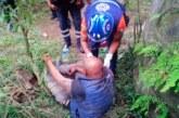 Auxilian a un hombre que fue arrojado a un acantilado de 50 metros