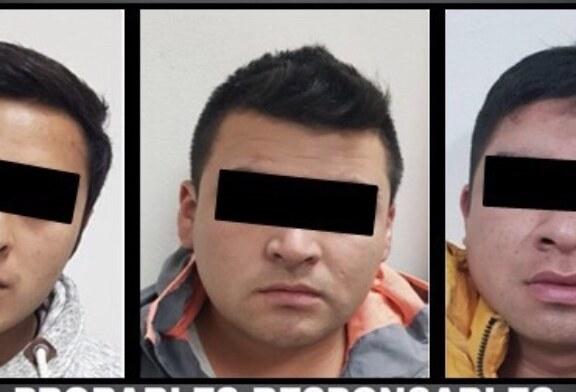 Detienen a tres personas presuntamente involucradas en el robo de vehículos del servicio UBER