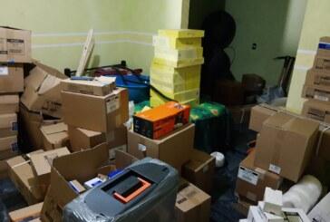 Recuperan mercancía robada valuada en 200 mil pesos.