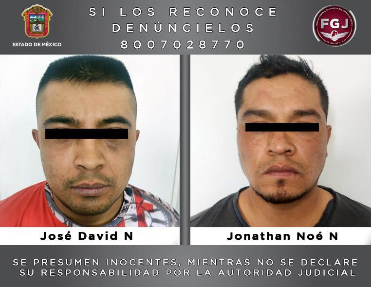Aprehende FGJEM a dos sujetos por robo y asesinato de dos personas en Tlalmanalco