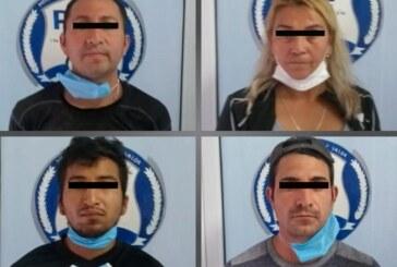 Asegura FGJEM 25 kilogramos de droga mediante cateo en Tultepec y detiene a cuatro personas