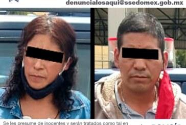 Detienen elementos de la secretaría de seguridad a dos probables implicados en el delito de narcomenudeo en la central de abastos de la capital mexiquense
