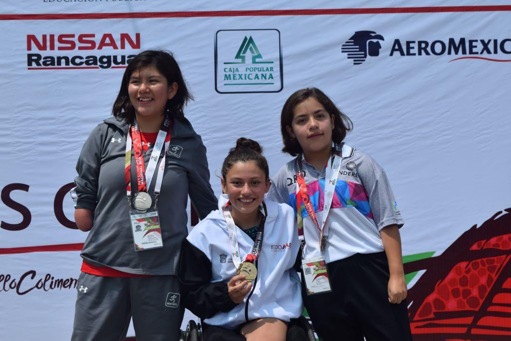 Obtiene Edoméx primeras medallas de oro en la paralimpiada nacional