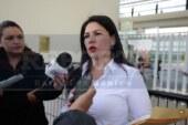 Una vez más se inconforma Teresa Castell, después inicio ya campaña con la gente.