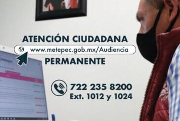 De forma digital mantiene Metepec cercanía con la ciudadanía