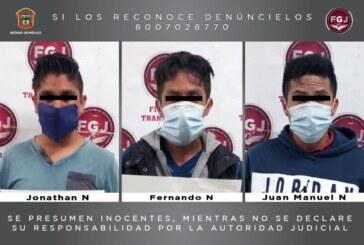 Procesan a tres sujetos por un asalto a transporte público en Nicolás Romero