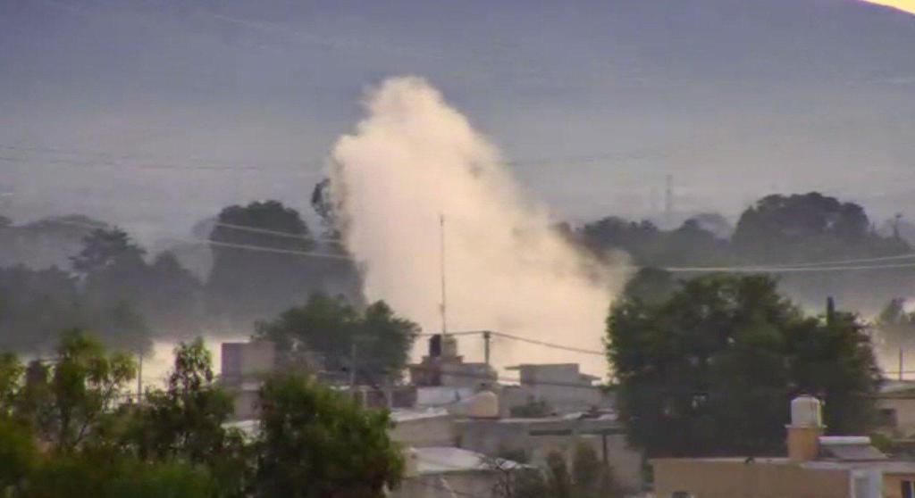 Evacúan a 500 personas por fuga de gasolina en Acolman