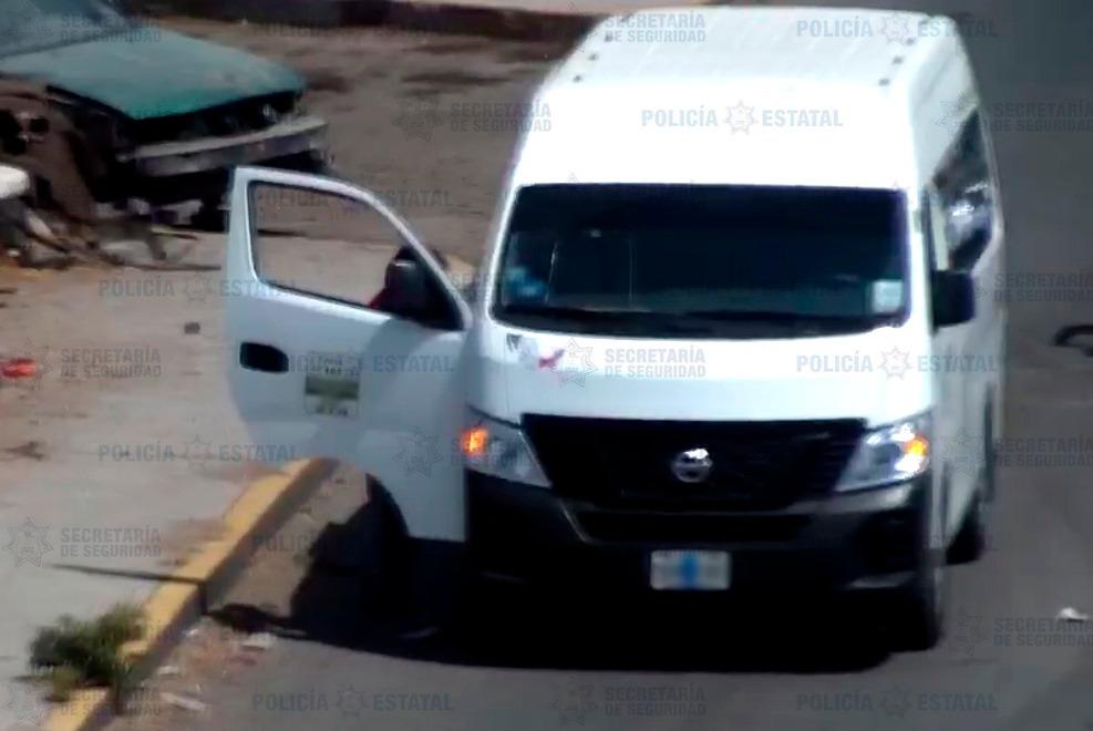 Elementos de la secretaría de seguridad recuperan unidad de transporte público robada con violencia