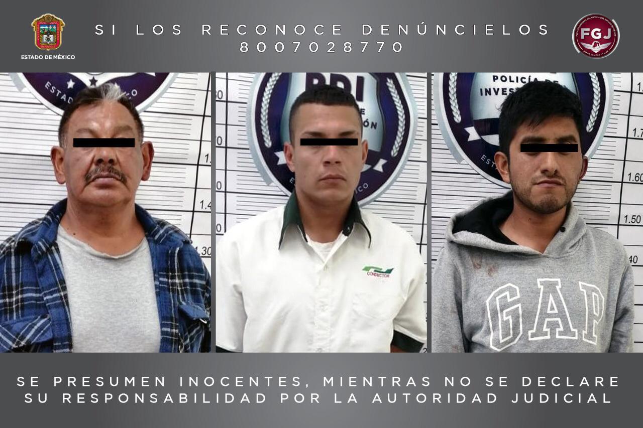 Detiene FGJEM a tres sujetos con droga y un arma de fuego durante operativo en Nicolás Romero