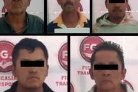 Resguardan dos predios donde localizaron autopartes de vehículo con reporte de robo y detienen a cinco posibles responsables