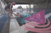 Inauguran el carril rosa en el multideportivo La Pila