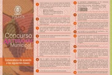 Convoca Toluca a 9º Concurso Artesanal Municipal 2020