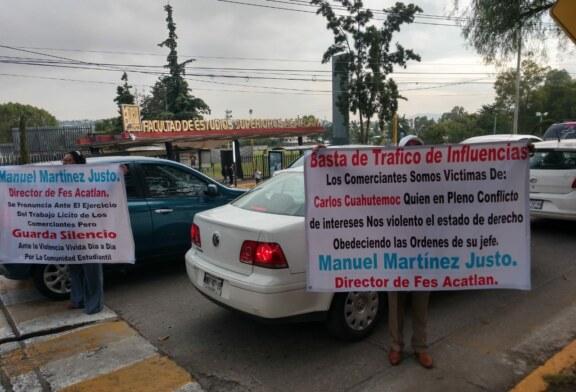 Estudiantes y comerciantes denuncian al secretario del Ayuntamiento de Naucalpan por conflicto de intereses