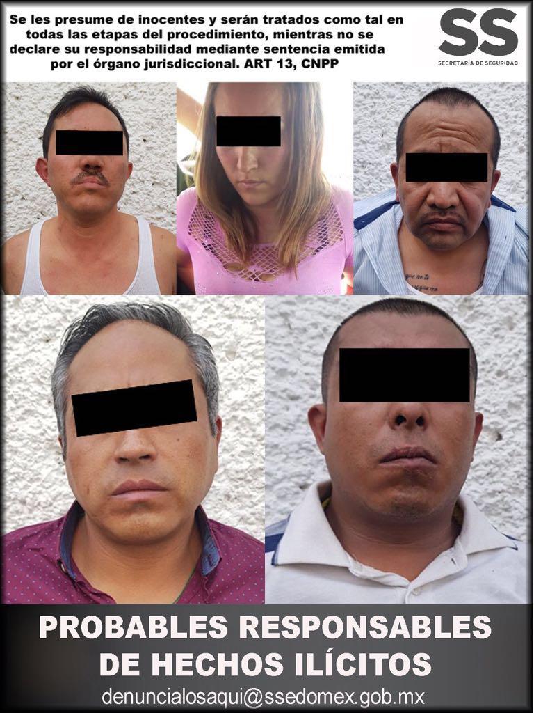 Detiene SS a cinco personas relacionadas en el robo a un cuentahabiente