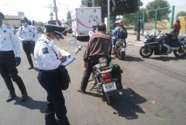 Remiten autoridades de Toluca al corralón más de 100 motocicletas
