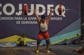 Gana Javier Yair Mondragón medalla de plata en halterofilia durante la olimpiada nacional 2019