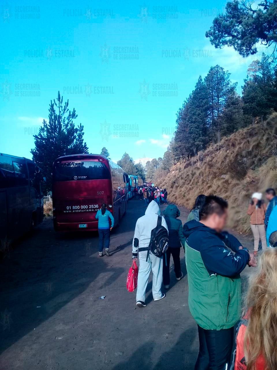 Refuerza secretaría de seguridad vigilancia en el nevado de Toluca ante la llegada de al menos 4 mil paseantes