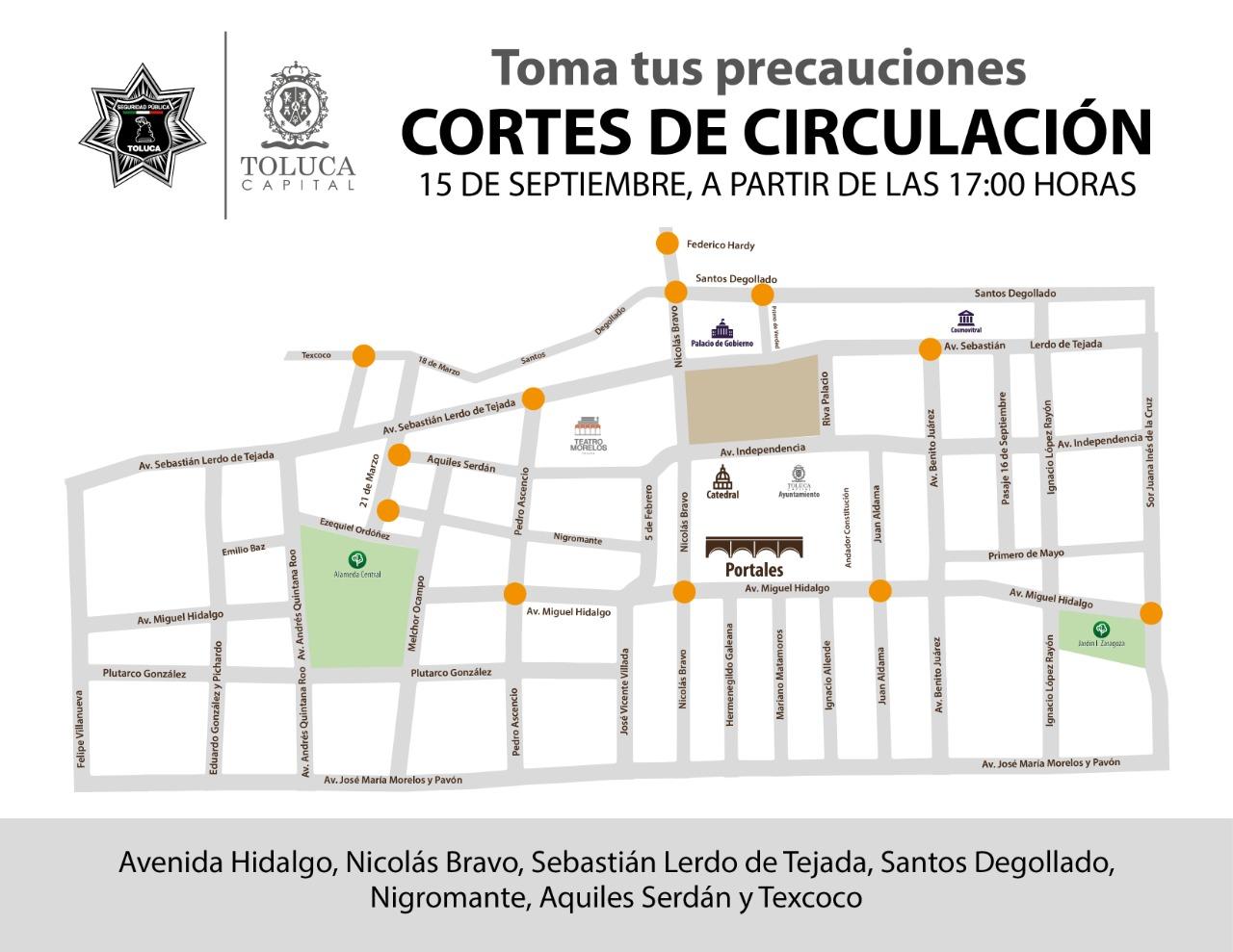 Listo operativo de seguridad para fiestas patrias en Toluca