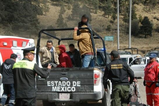 Rescata SSEM a cuatro personas extraviadas en el Xinantecatl