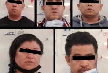 Detienen a cuatro probables miembros de una banda delictiva dedicada al robo a cuentahabientes