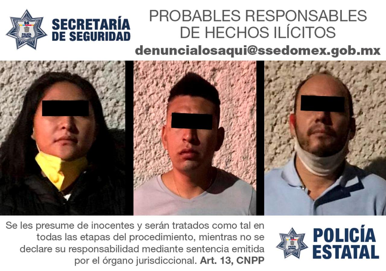 Capturan a tres posibles implicados en el delito de privación ilegal de la libertad de un menor de edad
