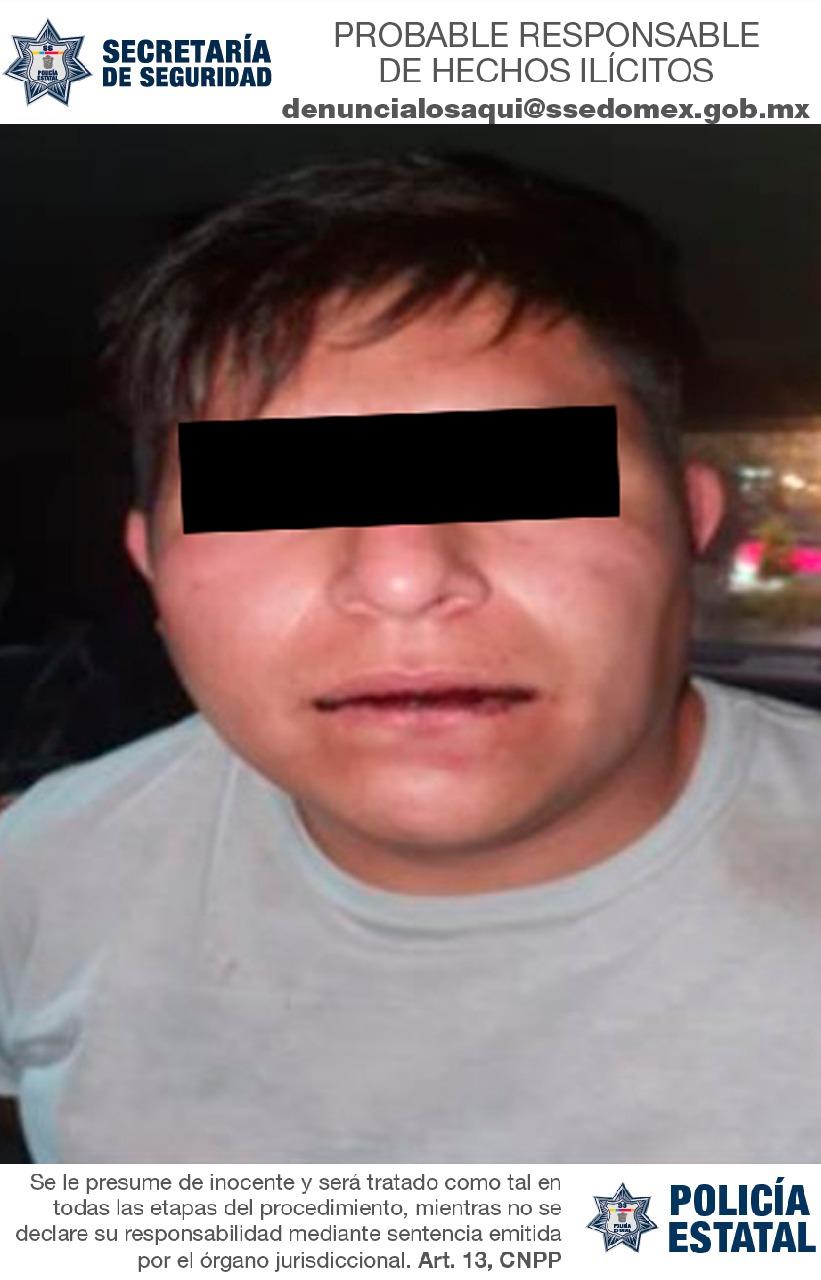 Detienen a sujeto probable responsable del delito de robo con violencia a tienda de conveniencia