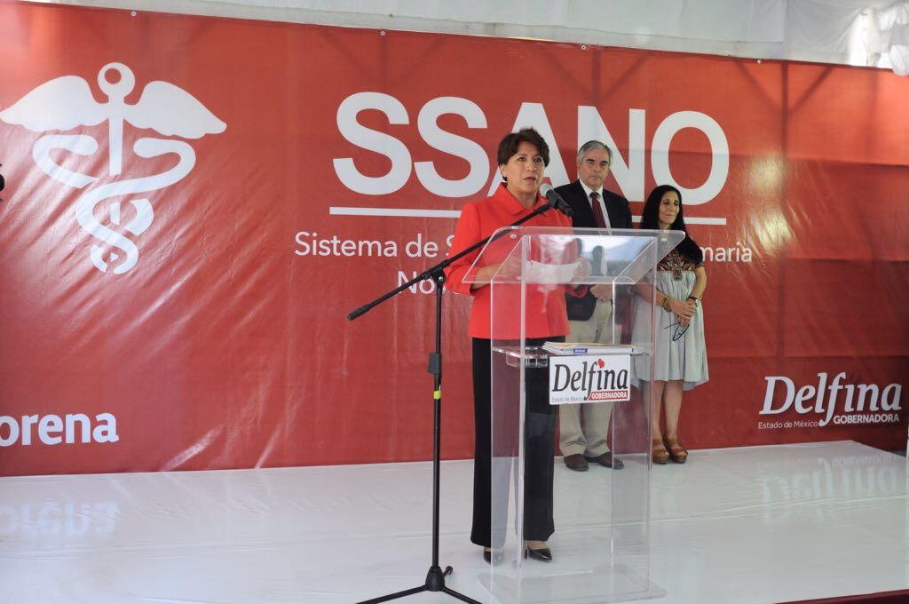 Presenta Delfina Gómez proyecto SSANO para Edoméx