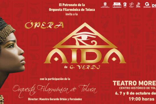La Orquesta Filarmónica de Toluca presentará la Ópera Aída de G. Verdi