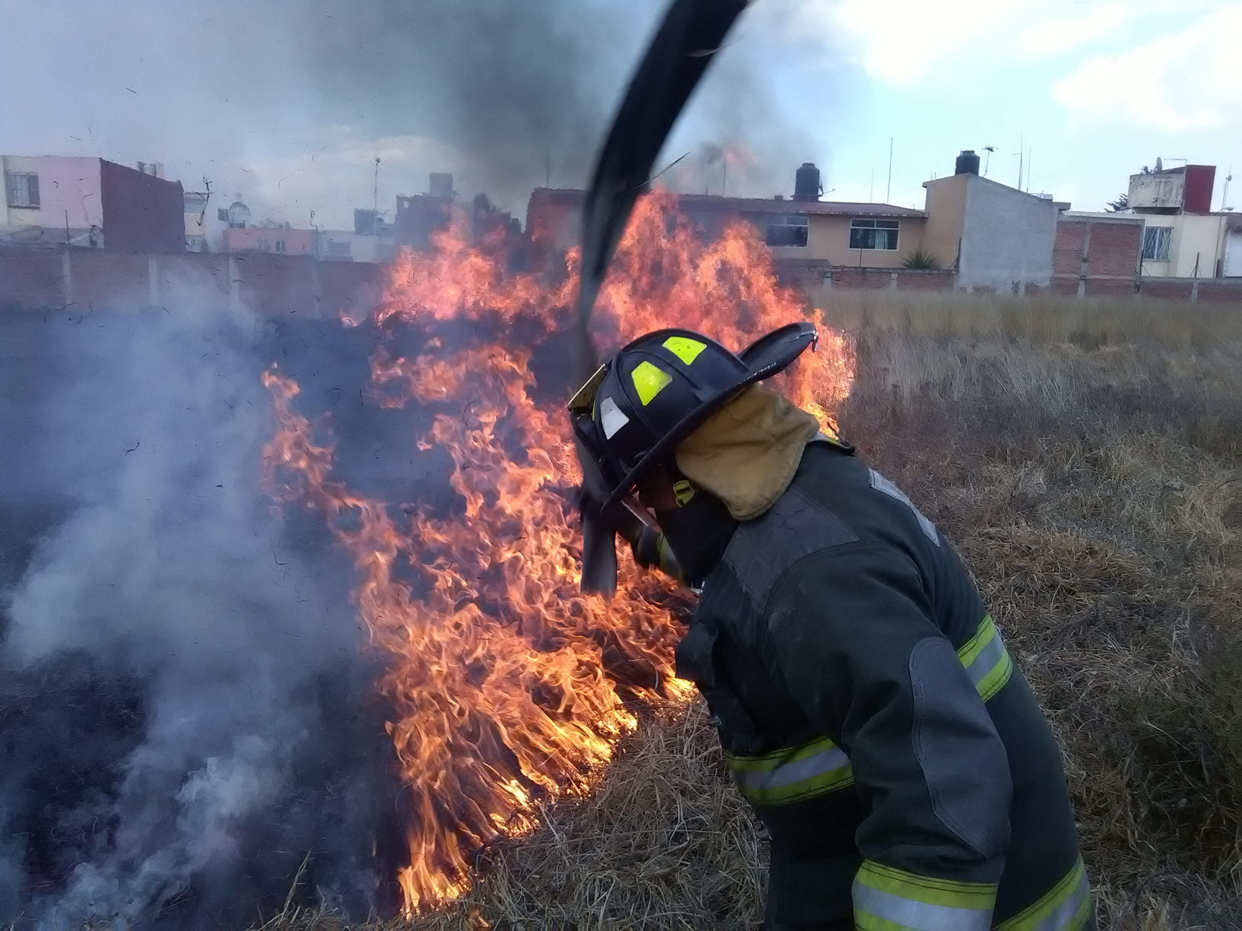 Atienden Bomberos de Toluca más de 800 incendios en el primer semestre de 2017