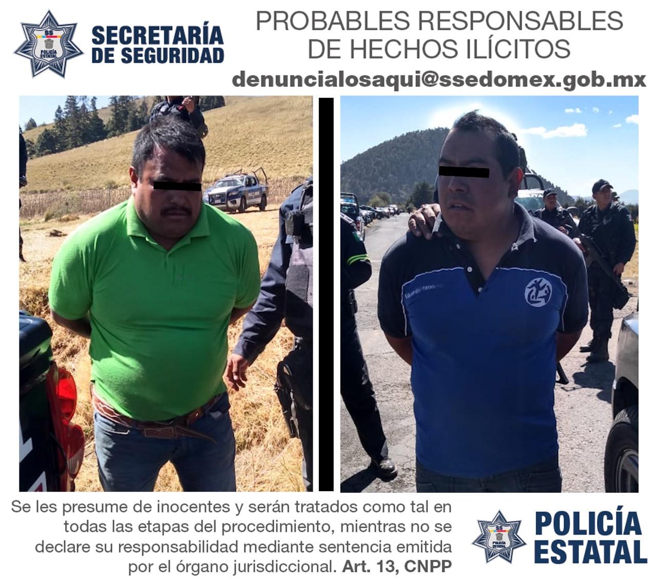 Detiene policía a dos presuntos talamontes después de enfrentamiento en Xalatlsco
