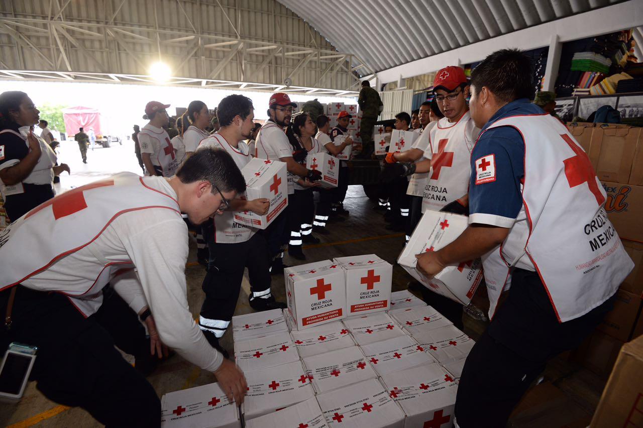 Distribuye Cruz Roja más de 160 toneladas de ayuda humanitaria a damnificados por sismos en Oaxaca