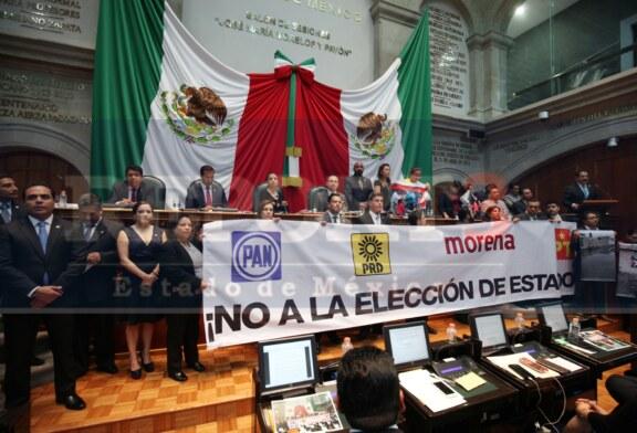 Diputados toman tribuna para denunciar elección de estado