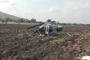 Se desploma helicóptero de las fuerzas armadas