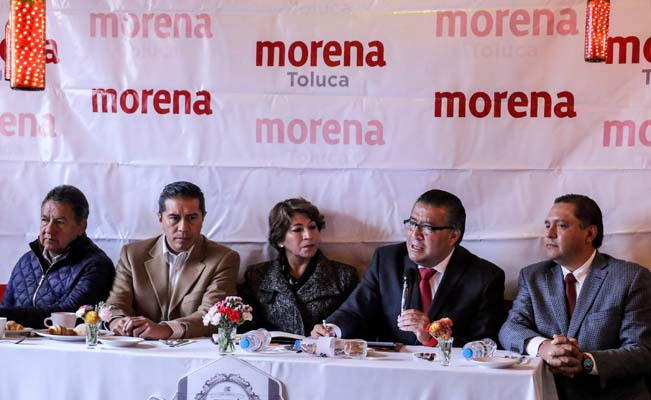 ¿Quién guía a Juan Rodolfo Sánchez Gómez en MORENA Toluca?