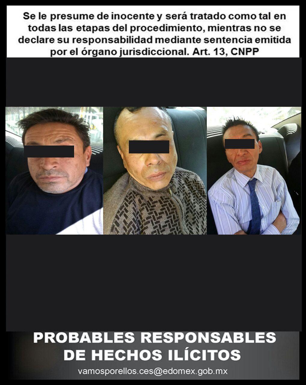 Responde SSEM a solicitud de auxilio de cuentahabiente y captura a tres personas