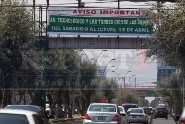 Cierran importante cruce en Toluca durante siete días