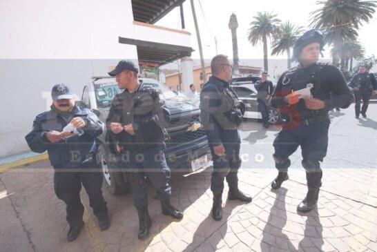 Se inconforman policías de Temoaya por las condiciones laborales