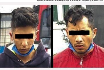 Detienen a dos hombres posibles implicados en el delito de robo con violencia