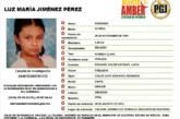 Alerta Amber: Luz María Jiménez Pérez