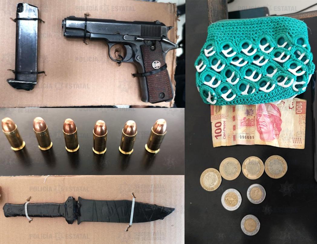 Elementos de la secretaría de seguridad detuvieron a tres probables asaltantes