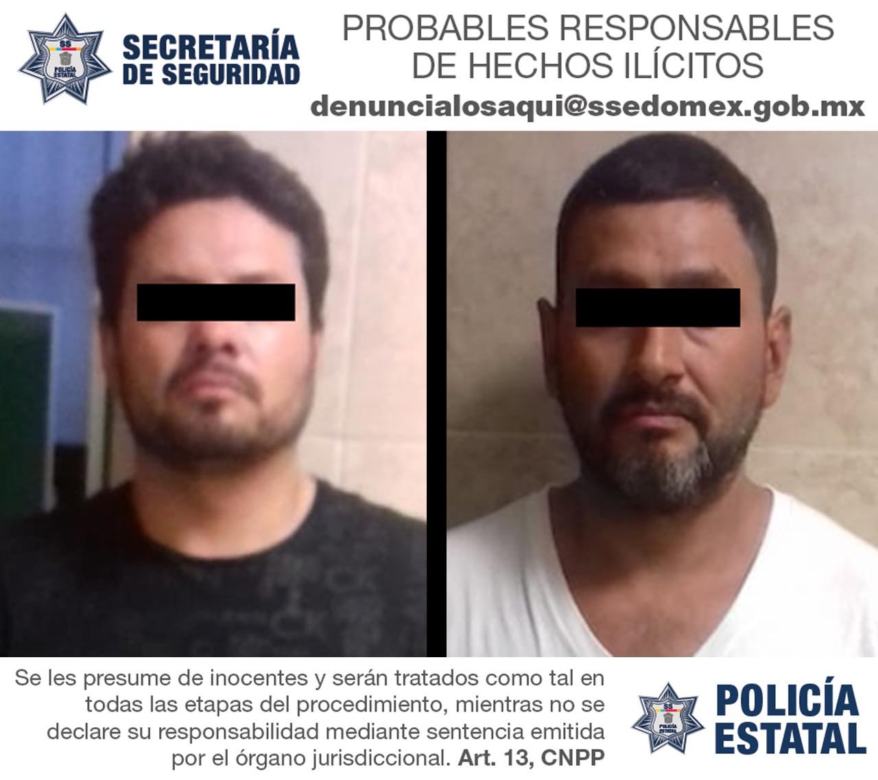 Secretaría de seguridad captura a probables implicados en el robo de tracto camión