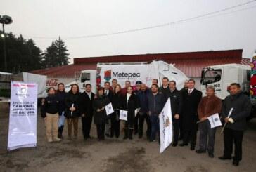 Con estrategia y equipamiento gobierno de Gaby Gamboa abate rezago de servicios públicos en Metepec