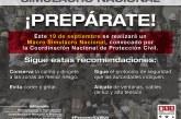 Participa Edoméx en macro simulacro nacional por sismos del 19s