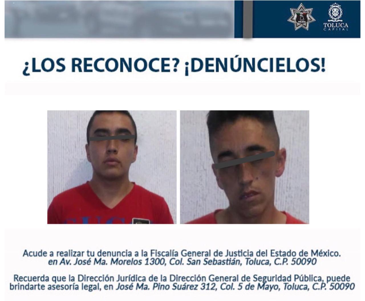 Detienen a dos presuntos delincuentes dedicados al robo al interior de vehículo en Parque Alameda