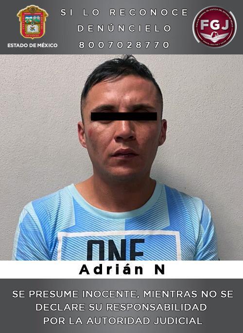Se dedicaba a la extorsión en Tecámac, ya lo capturaron para investigarlo.