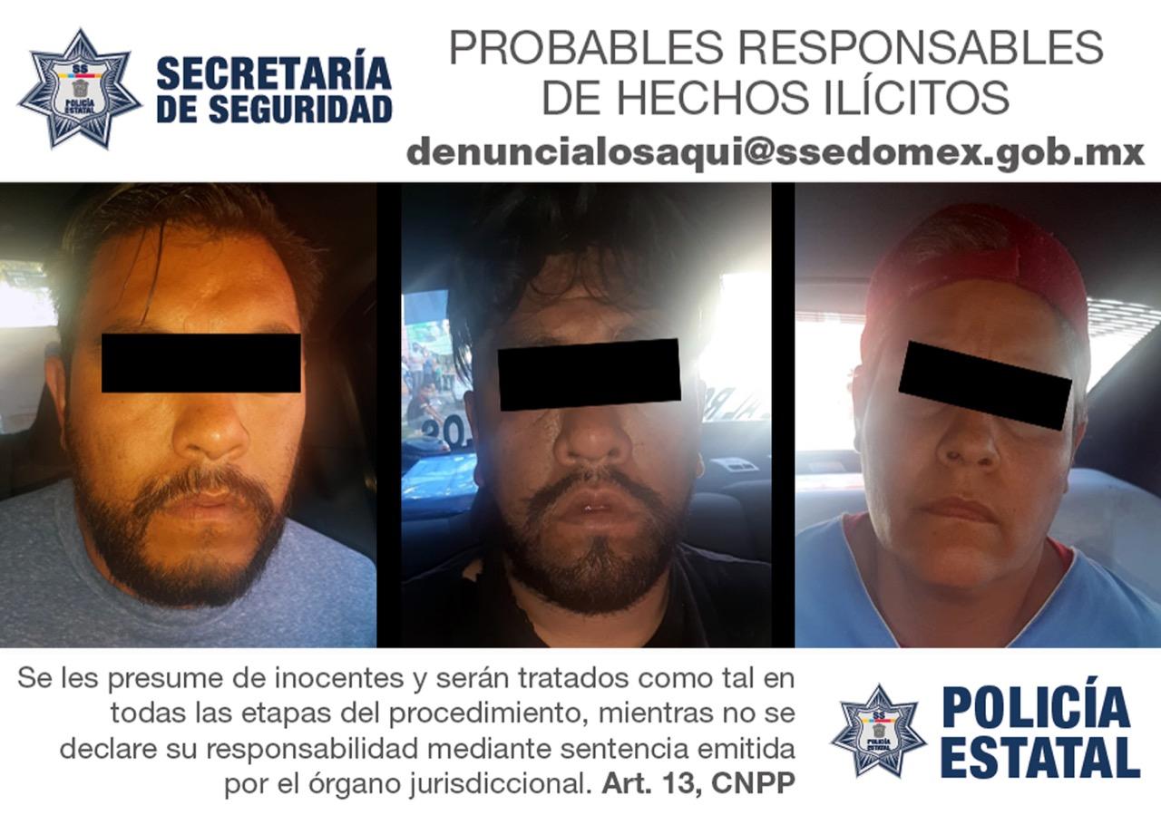 Recupera secretaría de seguridad vehículo con reporte de robo y detiene a tres sujetos como posibles responsables