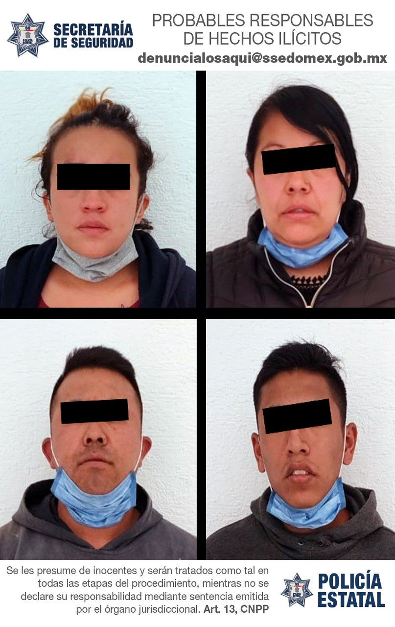 Detienen a cuatro personas probables responsables de sustraer ilegalmente a una menor de edad de un albergue público