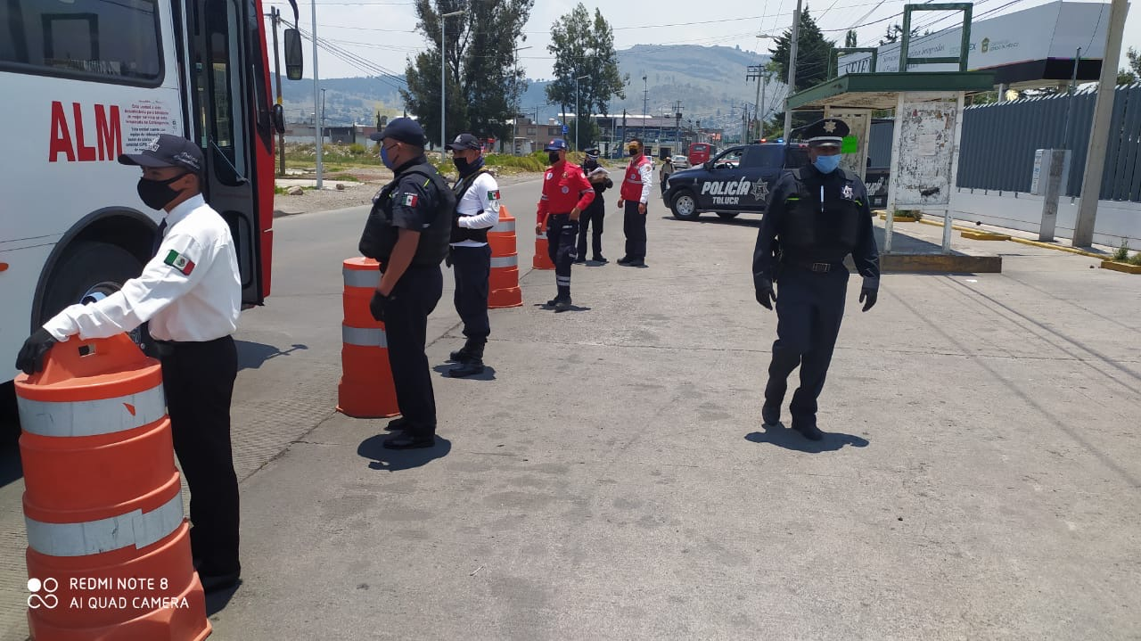 Recomienda PCyB de Toluca a la población utilizar cubrebocas