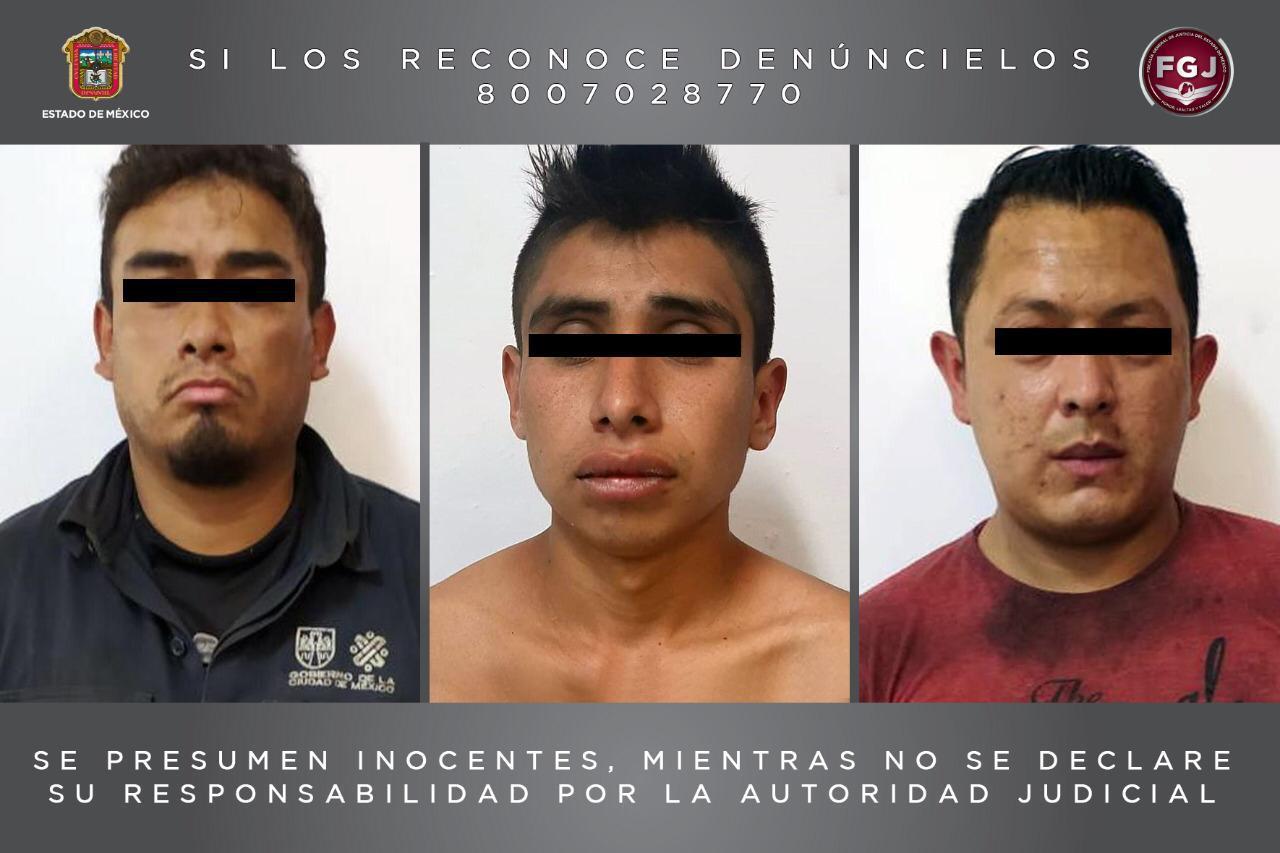 Inician proceso legal contra tres sujetos por robo de vehículo con violencia
